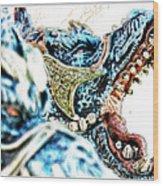 Da Dragon Comic IIacd Wood Print