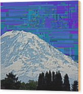 Da Mountain Cubed 1 Wood Print