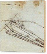 Da Vinci Flying Machine 1485 Wood Print
