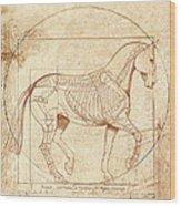 da Vinci Horse in Piaffe Wood Print