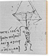 Da Vinci's Parachute Wood Print