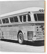 Dachshound Charter Bus Line Wood Print