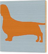 Dachshund Orange Wood Print