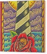 Dad's Lighthouse Wood Print
