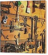 Dads Tools Wood Print by Will Boutin Photos