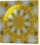 Daffodil And Easter Lily Kaleidoscope Under Glass Wood Print