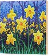 Daffodil Dance Wood Print