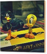 Daffy Tweety And Johnny Wood Print