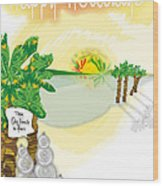 dafoi xMas Card_005 Wood Print