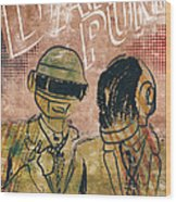 Daft Punk  Wood Print by Jackson
