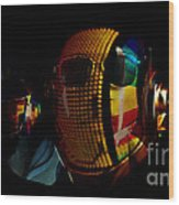 Daft Punk Pharrell Williams  Wood Print by Marvin Blaine