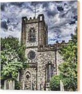 Dagenham Village Church Wood Print