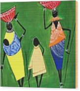 Daily Chores Wood Print by Shruti Prasad