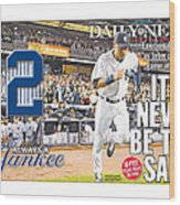 Daily News Front Page Wrap Derek Jeter Wood Print