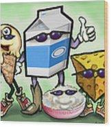 Dairy Food Group Wood Print