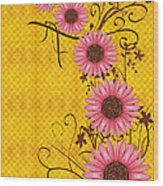 Daisies Design - S01y Wood Print by Variance Collections