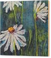 Daisies For Mom Wood Print