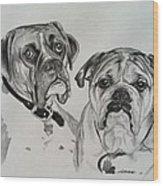 Daisy And Duke Wood Print