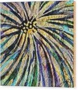 Daisy Blue Wood Print