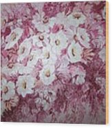 Daisy Blush Wood Print
