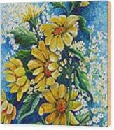 Daisy Breath Wood Print