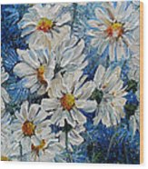Daisy Cluster Wood Print
