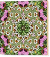 Daisy Daisy Do Kaleidoscope Wood Print