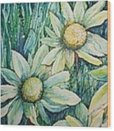 Daisy Days Wood Print