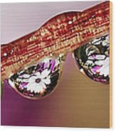 Daisy Droplets Wood Print