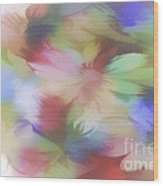 Daisy Floral Abstract Wood Print