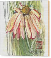 Daisy Girl Wood Print by Sherry Harradence