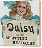 Daisy Headache Cure Wood Print