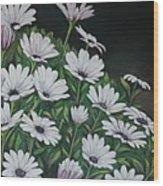 Daisy Mum Wood Print