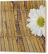 Daisy On Bamboo Wood Print