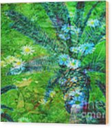 Daisy Palms Wood Print