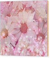 Daisy Sparkles Wood Print
