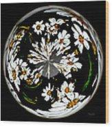 Daisy Sphere Wood Print