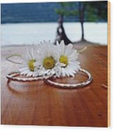 Daisy Unity Rings Wood Print
