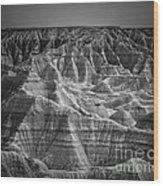 Dakota Badlands Wood Print