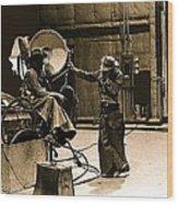 Dakota Homage #1 1945 Cowboy Extras Sound Stage Old Tucson Arizona Wood Print