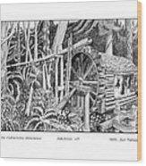 Water Wheel Alderbrook Hood Canal W A Wood Print