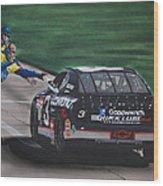 Dale Earnhardt Wins Daytona 500-pit Road Hand Shake Wood Print