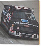 Dale Earnhardt Wins-wave To The Crowd Wood Print