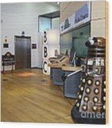 Dalek At The Bbc Wood Print