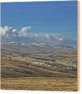 Dales View Wood Print