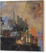 Dallas Abstract 002 Wood Print