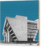 Dallas Skyline City Hall - Steel Wood Print