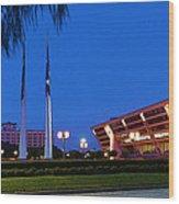 Dallas City Hall - Twilight Wood Print