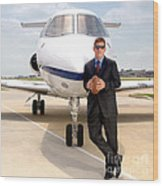 Dallas Cowboys Superbowl Quarterback Troy Aikman Wood Print