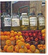 Dallas Farmers Market - Pickels? Wood Print